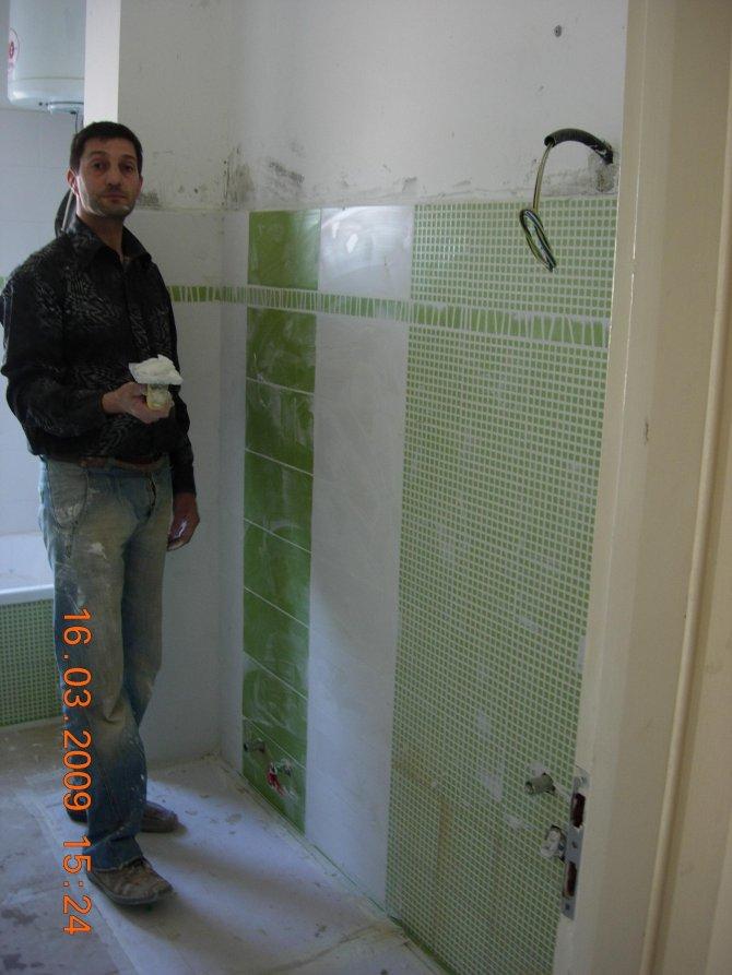 Pin bagno moderno con piastrelle mosaico genuardis portal - Bagno moderno mosaico ...